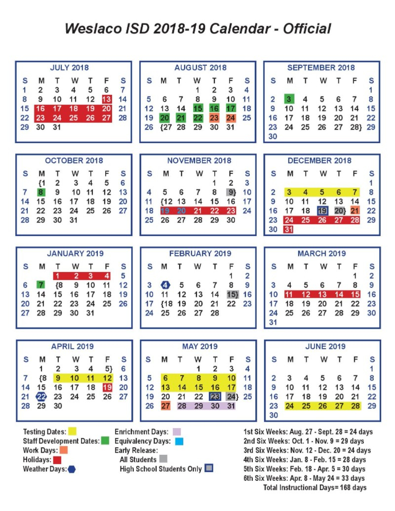 Calendar - Cuellar Middle School Inside Texas Tech University Academic Calendar