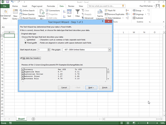 Chapter 8: Importing Data Into Excel - Teach Yourself For Export Data Into A Calendar Excel