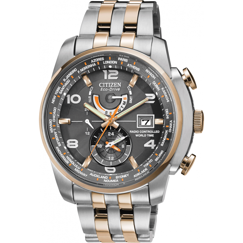 Citizen Eco Drive World Time A.t Wr200 At9016 56H Watch Regarding Citizen Eco Drive Wr100 Manual