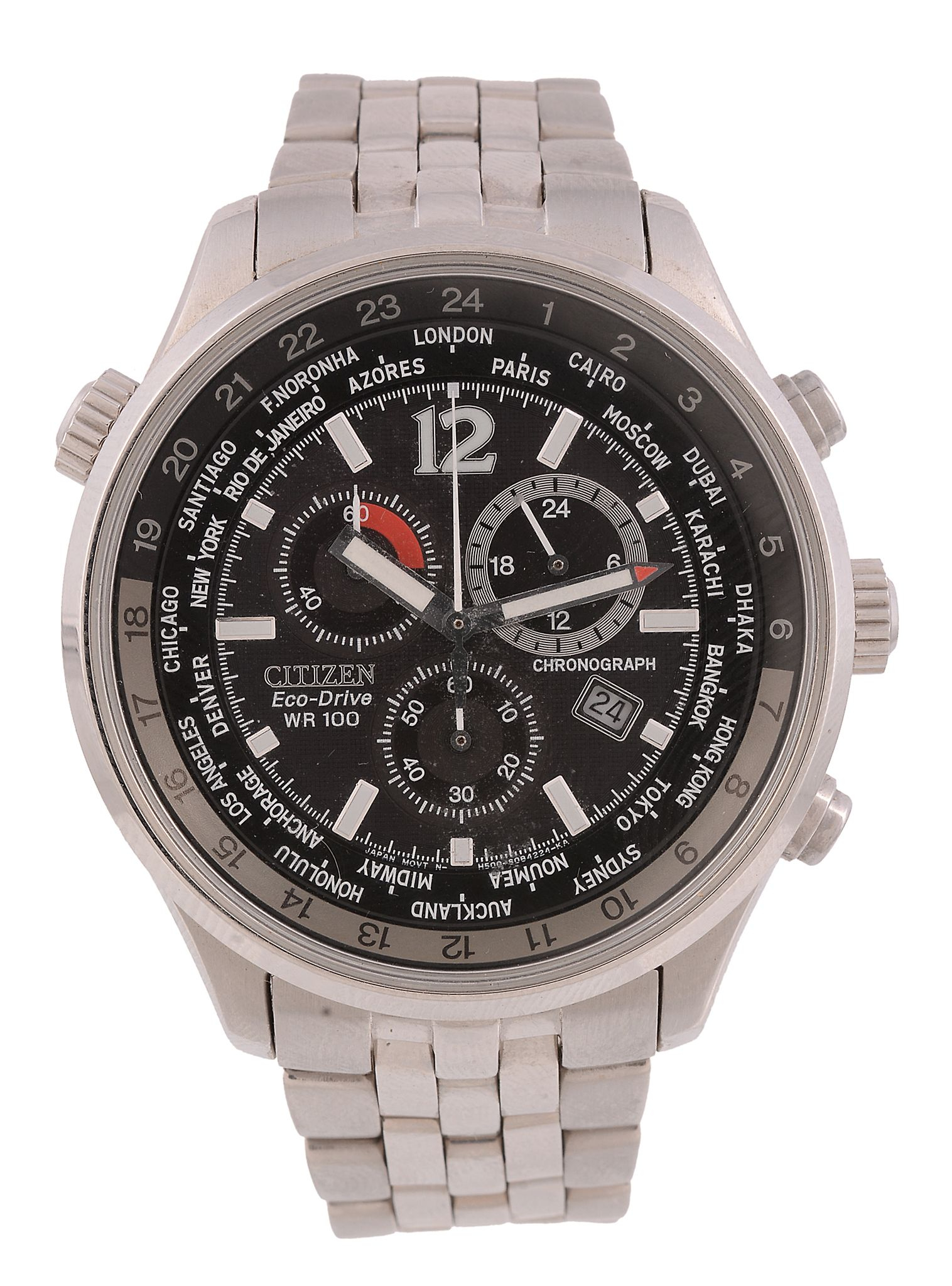 Citizen, Eco Drive Wr100, Ref. H500 – S055148 Hst, A For Citizen Wr100 Chronograph Manual