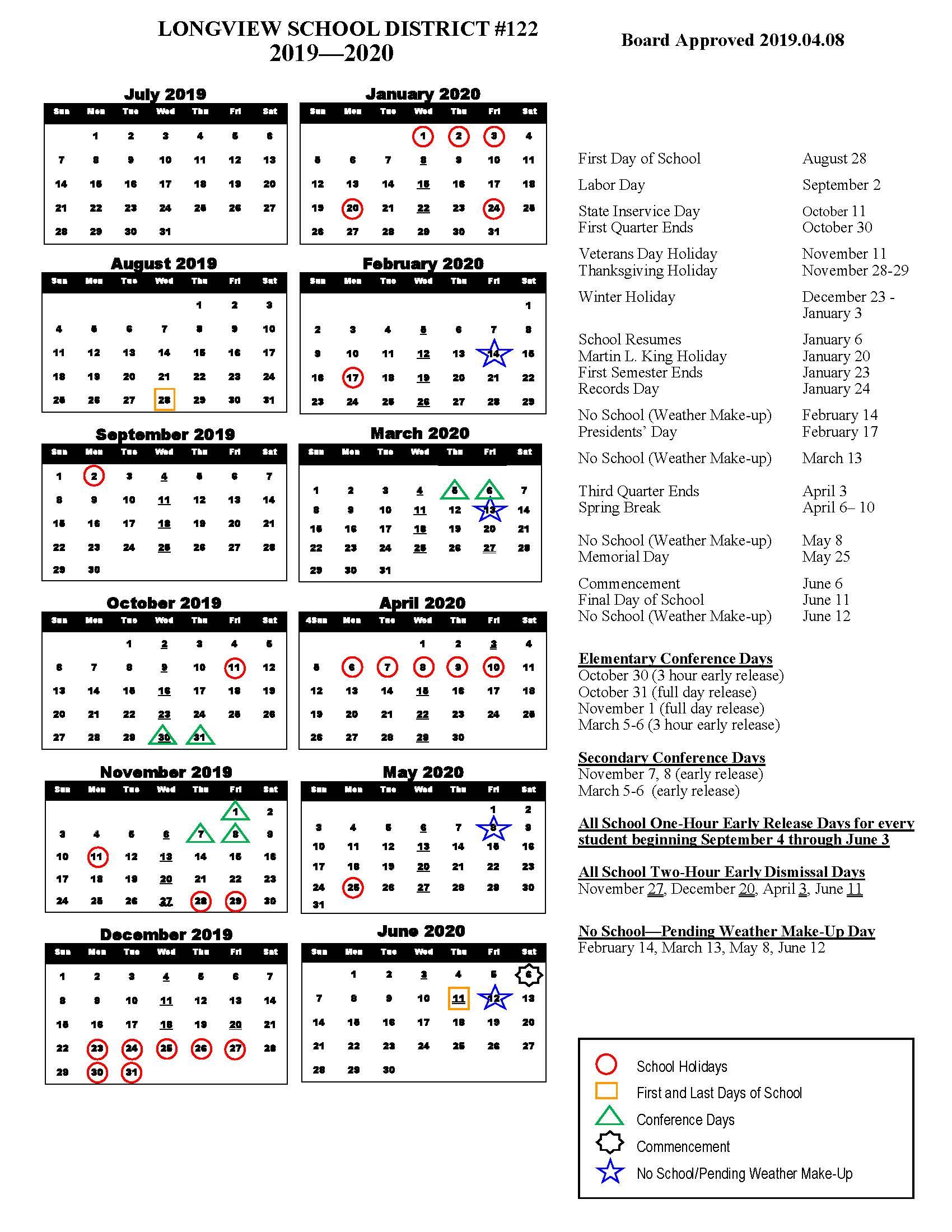 Columbia County School Calendar 2020 | Free Printable Calendar Regarding Free Calendars Georgia Website
