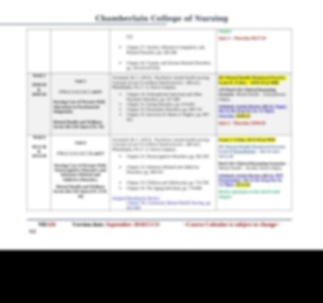 Course Calendar Nr326 Rev 082118 V 3.Docx - Chamberlain Intended For Chamberlain Academic Calendar