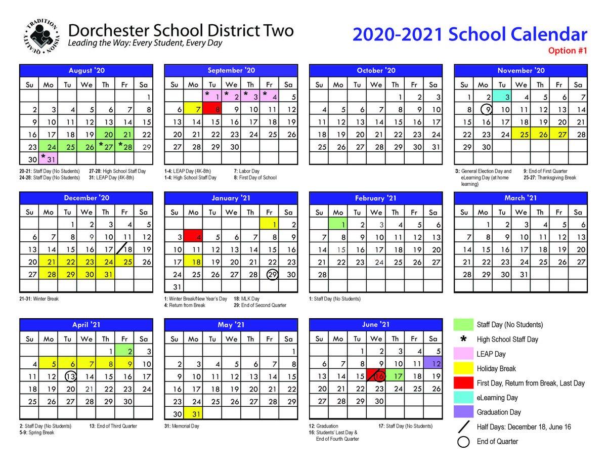 Dorchester District 2 Calendar 2021 | Printable Calendar 2020-2021 regarding When Is Spring Break For Dorchester District 2
