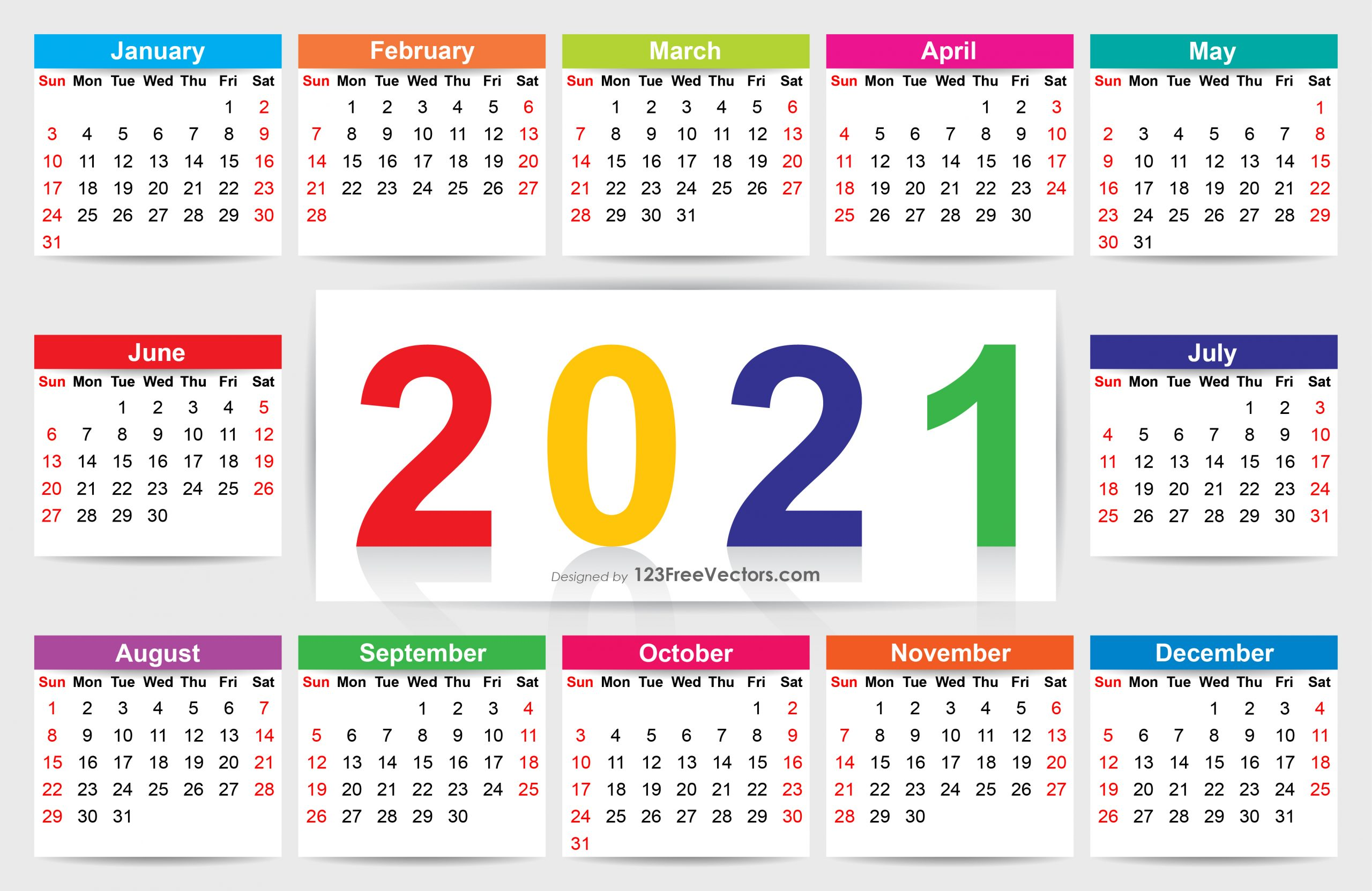 Download Calendar January 2021 / List Of Free Printable Regarding Every Day Is A Holiday Calendar 2021 Printable