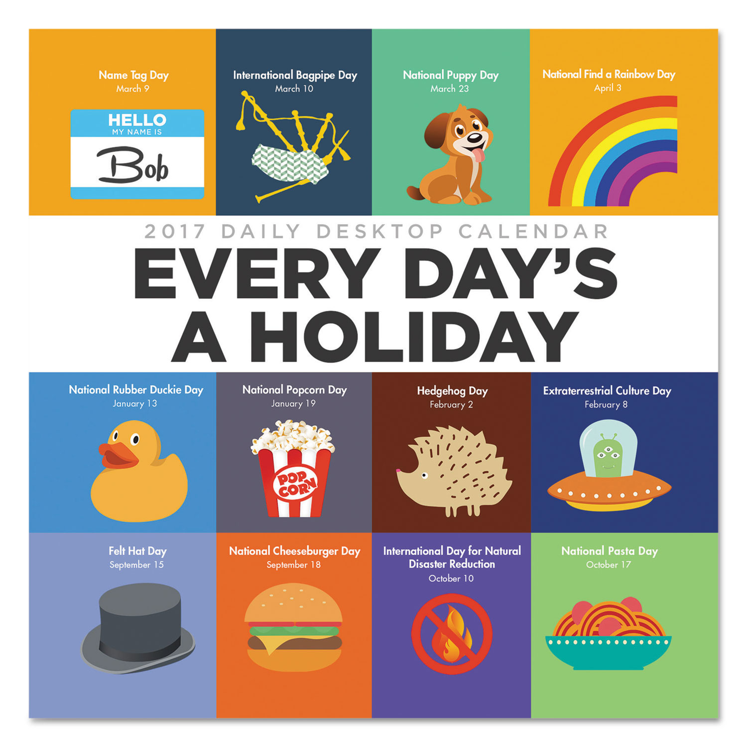 Every Day'S A Holiday Box Calendar, 5 1/2 X 5 1/2, 2017 pertaining to Every Day A Holiday Calendar