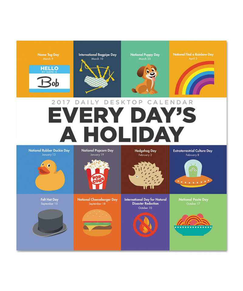 Every Day'S A Holiday Box Calendar, 5 1/2 X 5 1/2, 2017 With Regard To Every Holiday Calendr