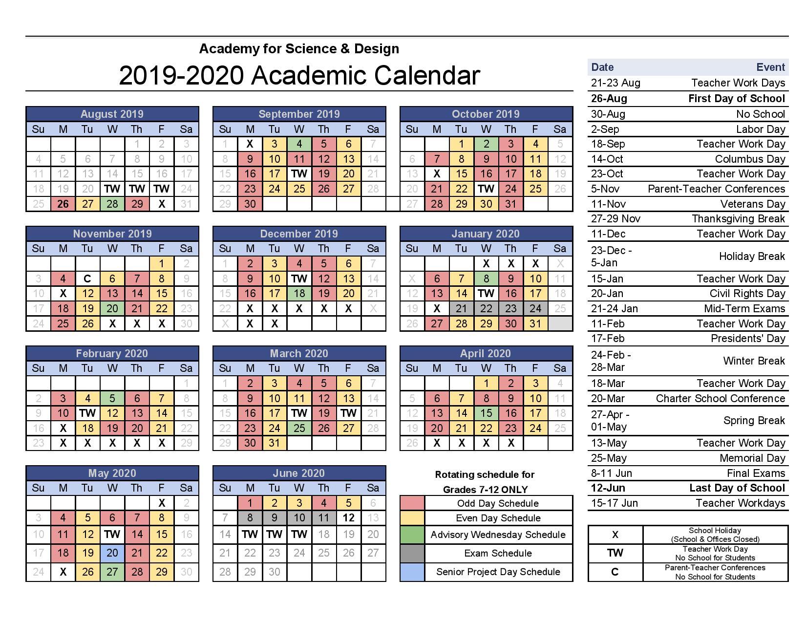 Forsyth County Calendar 2020 | Free Printable Calendar Within Winston Salem Forsyth County Schools Calendar Pdf