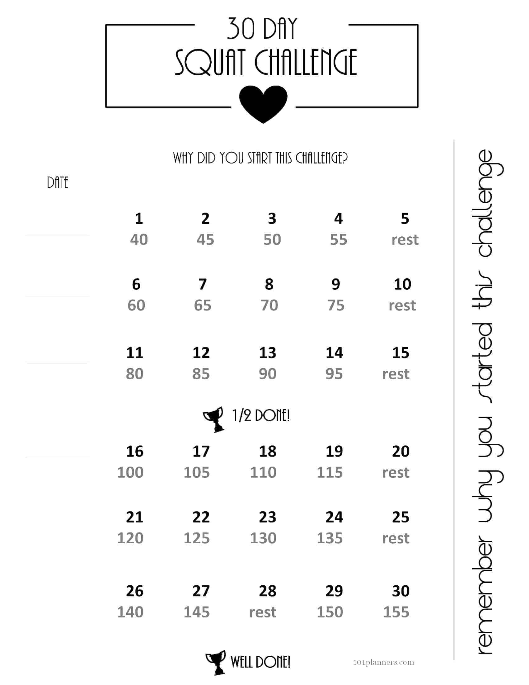 Free 30 Day Challenge Calendar Within 30 Days Calendar