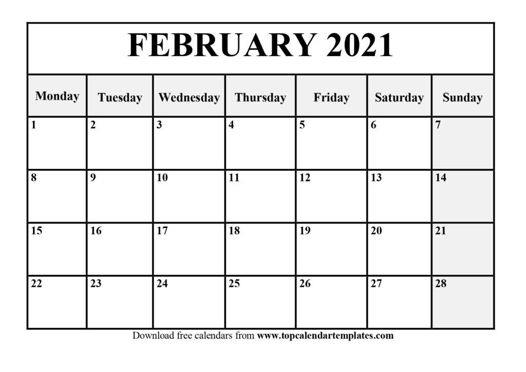 Free February 2021 Calendar Printable (Pdf, Word) Intended For Printable Sunrise And Sunset Calander 2021