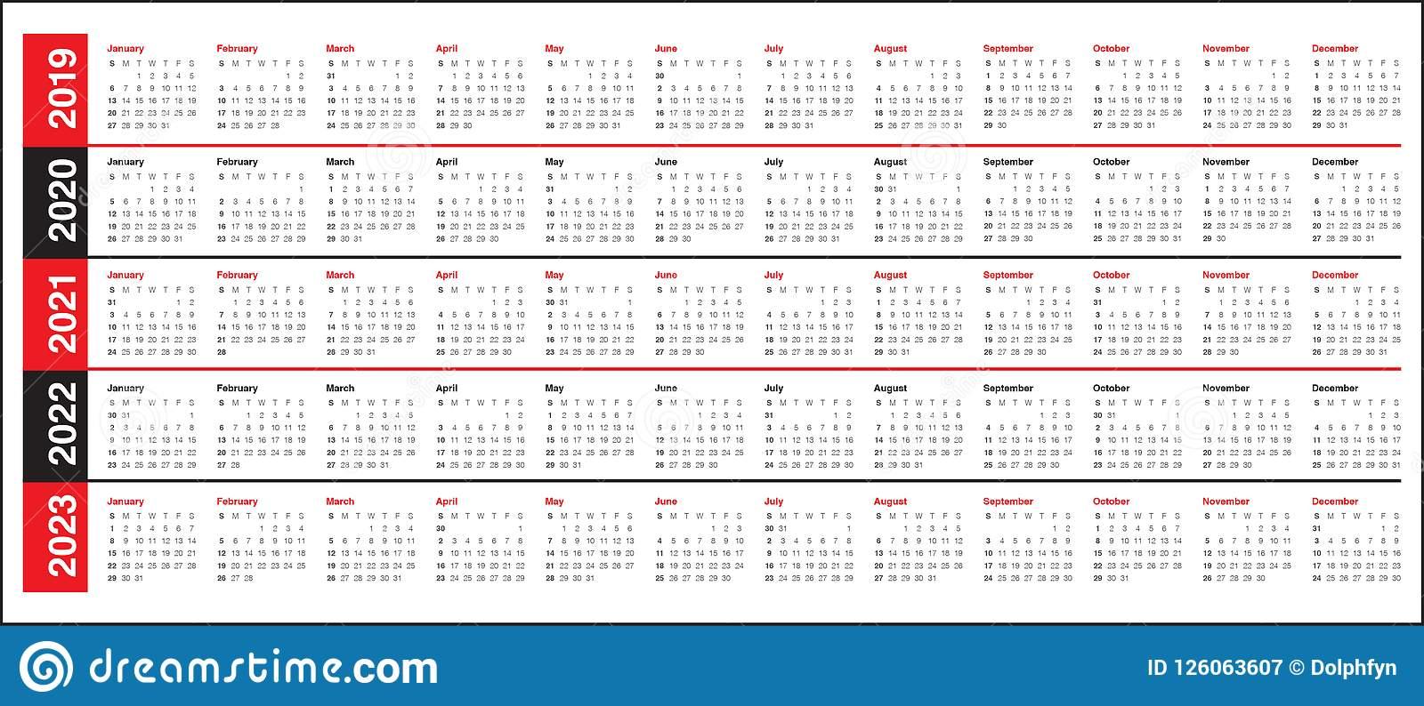 Free Prinable Calenders 2020 To 2023 | Calendar Template Regarding 4 5 4 Retail Calendar 2019 2022