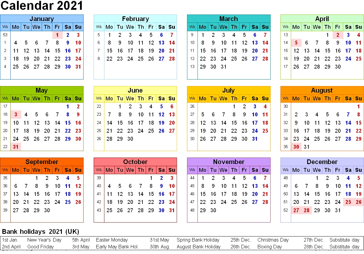 Free Printable 2021 Yearly Calendar With Holidays | 2020Calendartemplates Within Every Holiday Calendr