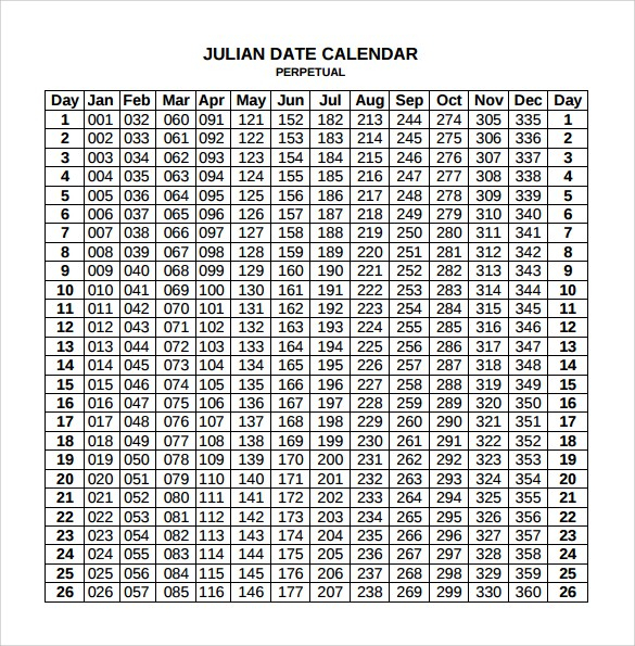 Free Printable Julian Calendar 2019 Blank Template With Regard To Julian Date Conversion Calendar Printable