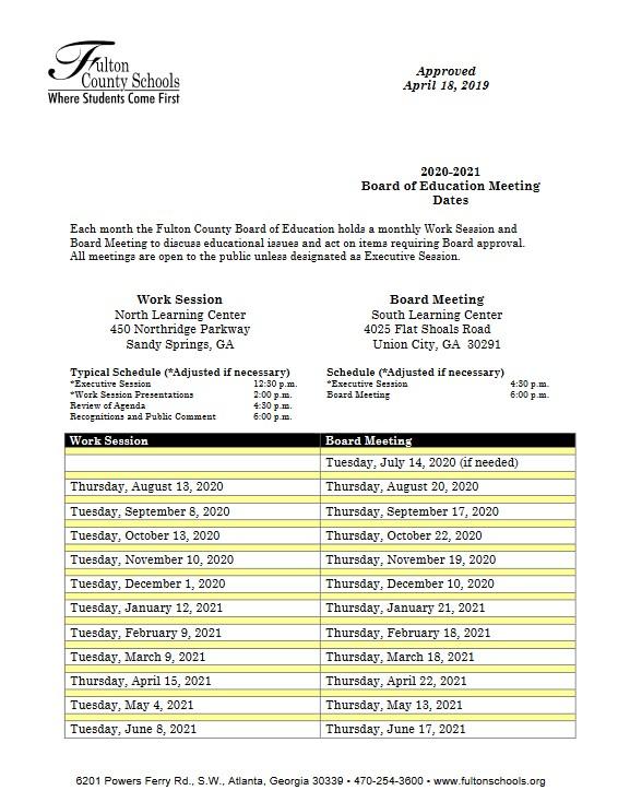 Fulton County 2021 2022 Calendar | 2021 Calendar For 2021 2022 Aiken County Public School Calendar