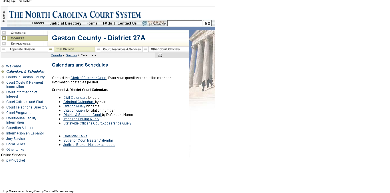 General District Courts: The Legal Frontier Of Virginia For Calendars/State.nc.us