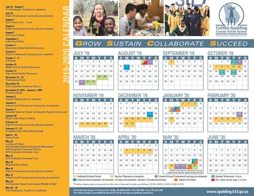 Griffin Spalding County School System Calendars regarding Spalding County School System 2021 Calendar