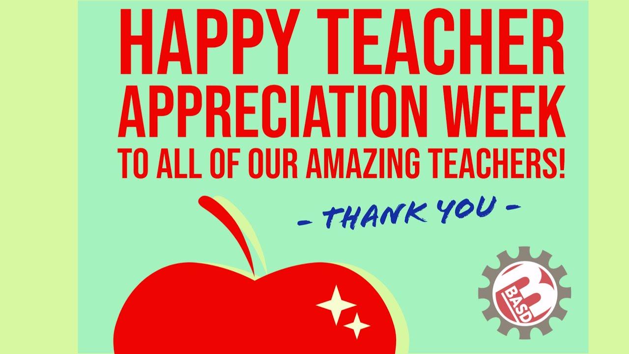 Happy Teacher Appreciation Day 2020 - Youtube inside Teacher Appreciation Week 2021