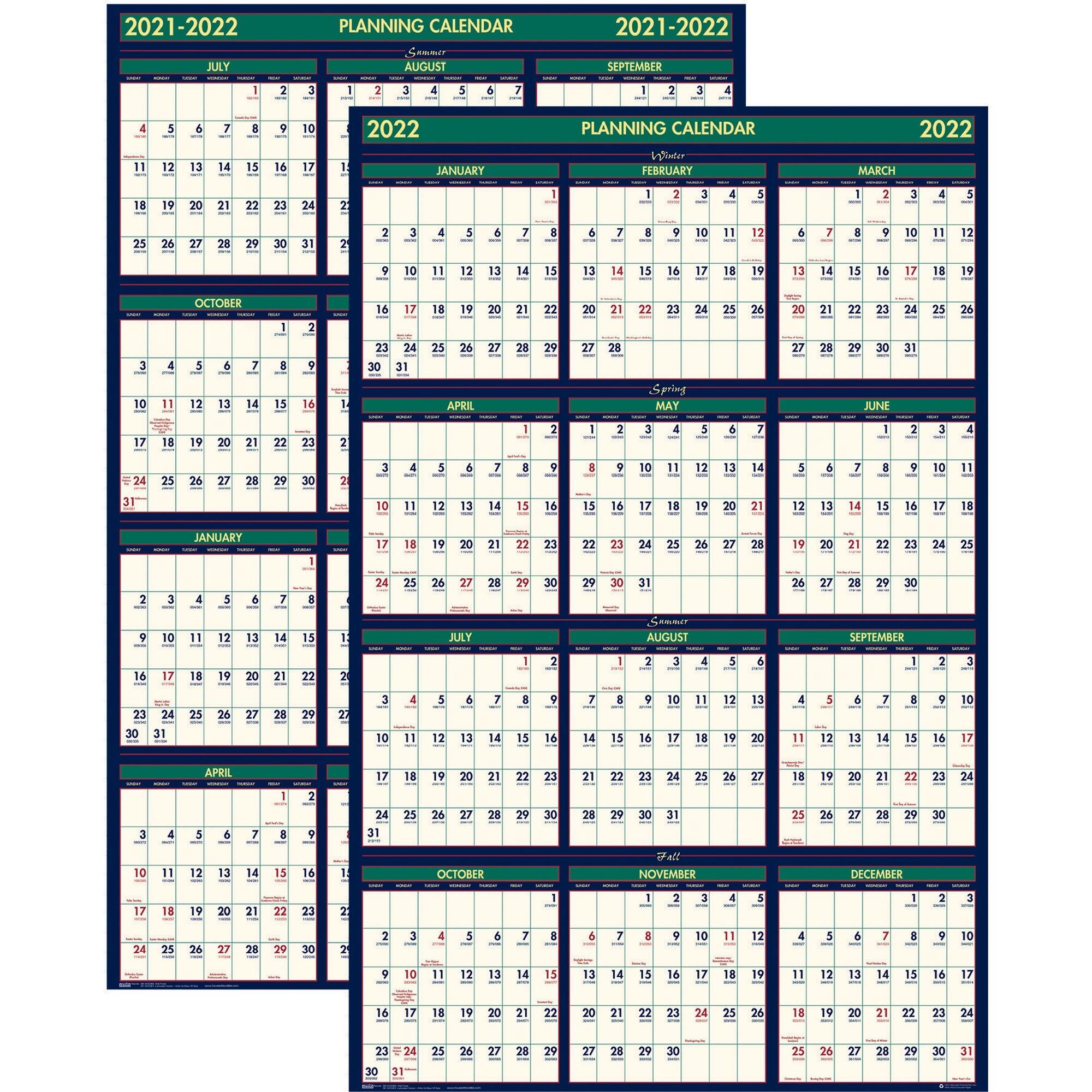 House Of Doolittle 3 Month Horizontal Wall Calendar With Regard To Julian Date Converter 2022