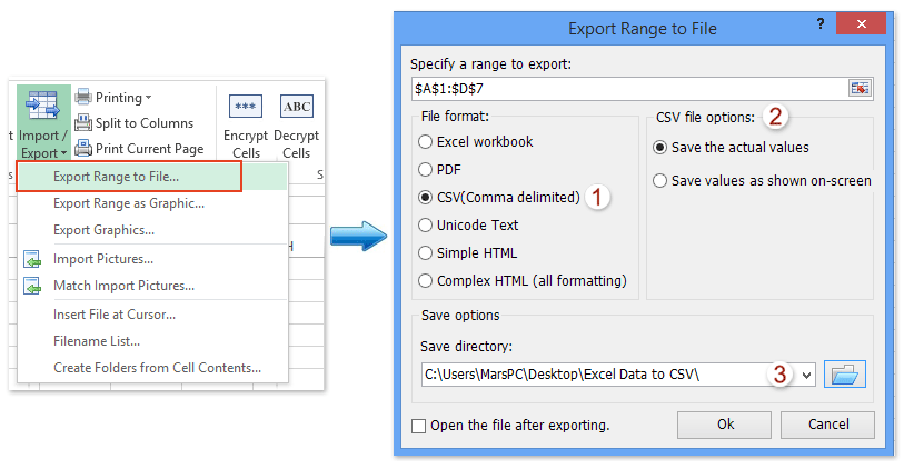 How To Export/Save Selection, Active Sheet Or Multiple Intended For Export Data Into A Calendar Excel