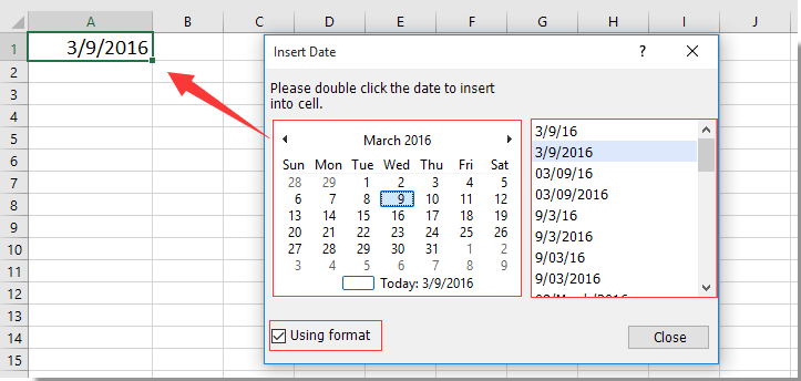 How To Pop Up A Calendar When Clicking A Specific Cell In For Excel Data To Calendar