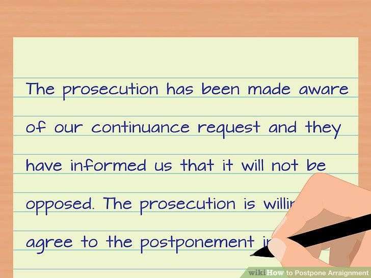 How To Postpone Arraignment (With Pictures) - Wikihow Pertaining To Nc Court Date By Defendant