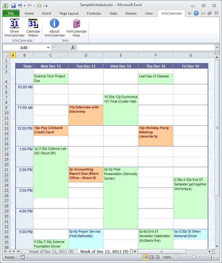 Import Outlook Calendar Into Excel And Word   Daily Within Convert Excel To Calendar