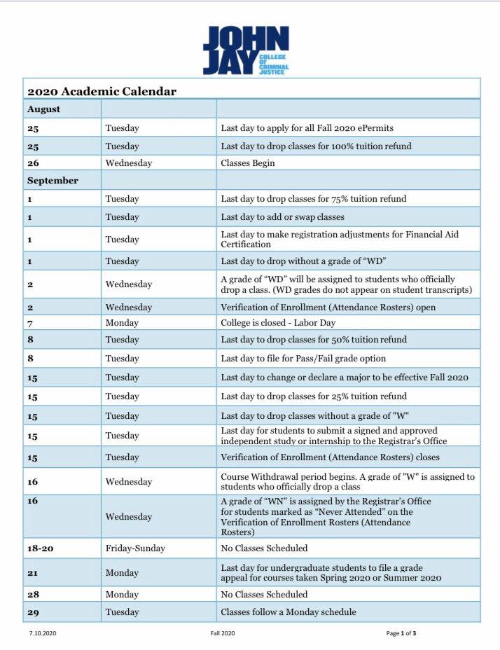 John Jay Calendar Fall 2021   2021 Calendar In 12 Mo Calendar 2021