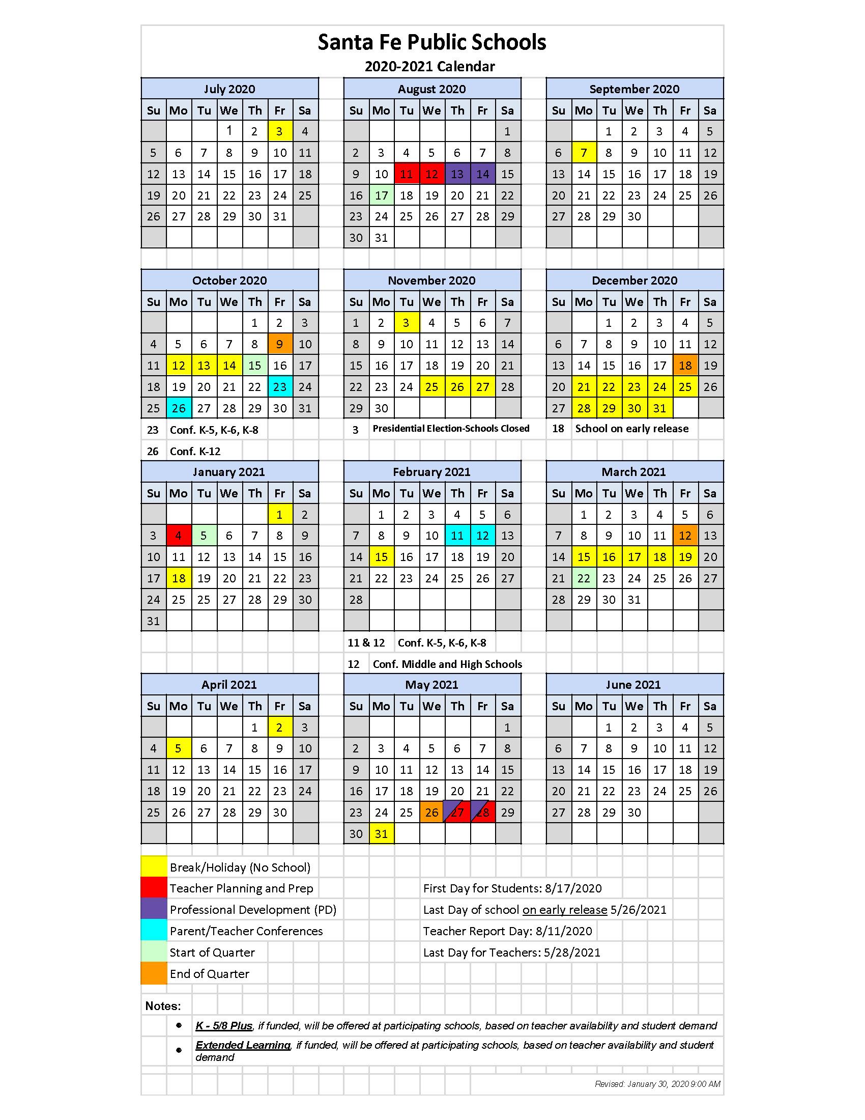 Julian Calendar 2021 Converter   Printable Calendar 2020 2021 Within Bay County School Calendar 2020/2021
