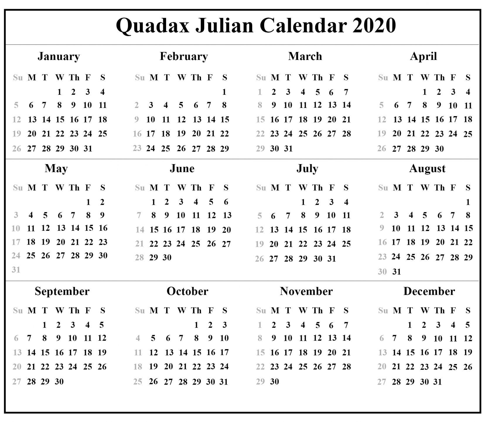 Julian Date Conversion 2021   Printable Calendar 2020 2021 Inside Julian Date Conversion 2022