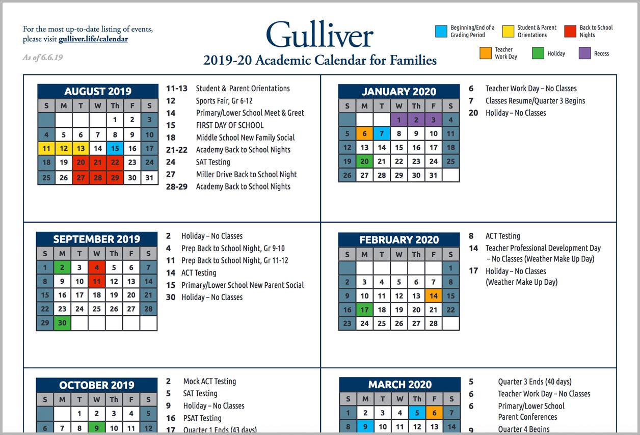 Miami Dade College School Calendar 2021 2020   Printable Regarding Lodi School District Calendar 2021
