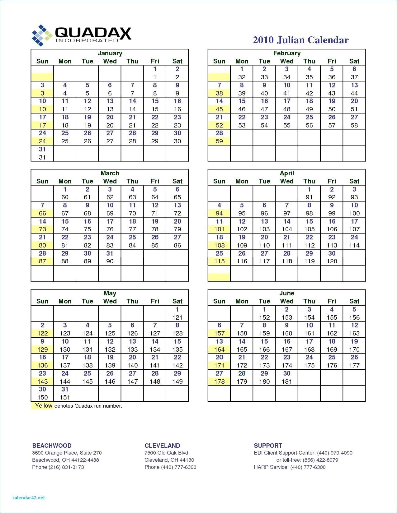 Quadax Julian Date Calendar 2020 Julian Calendar Pdf Regarding Julian Date Conversion Calendar Printable