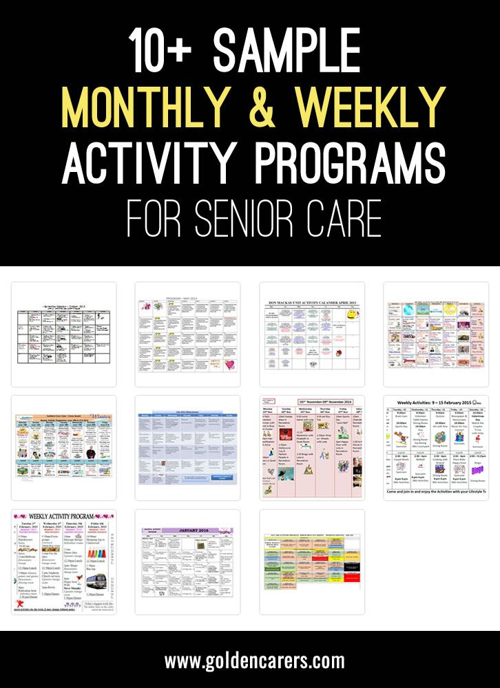 Sample Activities Calendars | Senior Living Activities With Sample Caendar For Assisted Living Facilities