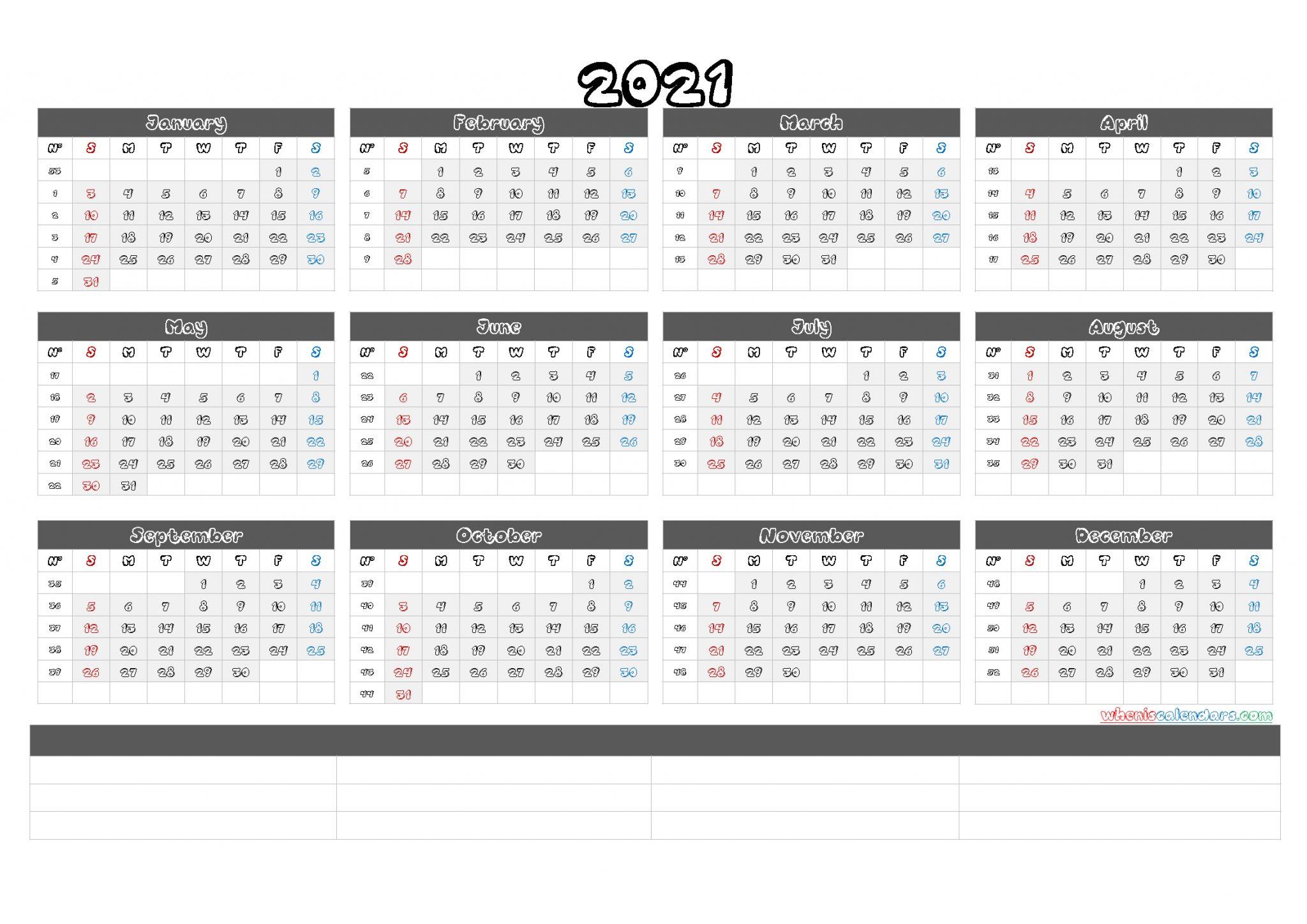 Sap 52 Week Numbered Calendar : Free Calendar Template With Regard To 52 Week Calendar