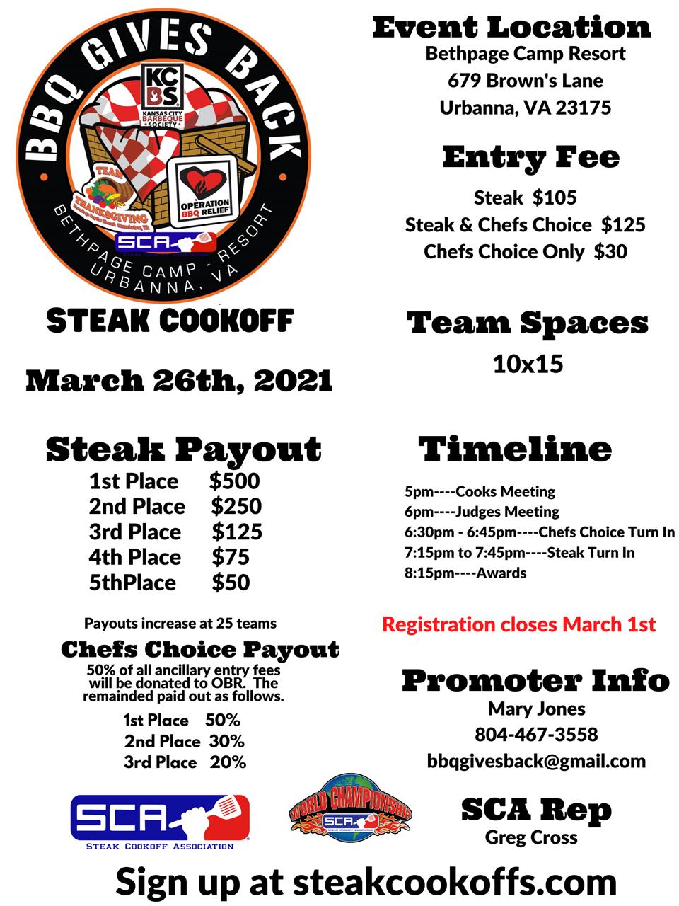 Steak Cookoff Association – Cookoffs In Marion County Fl Spring Brake 2021