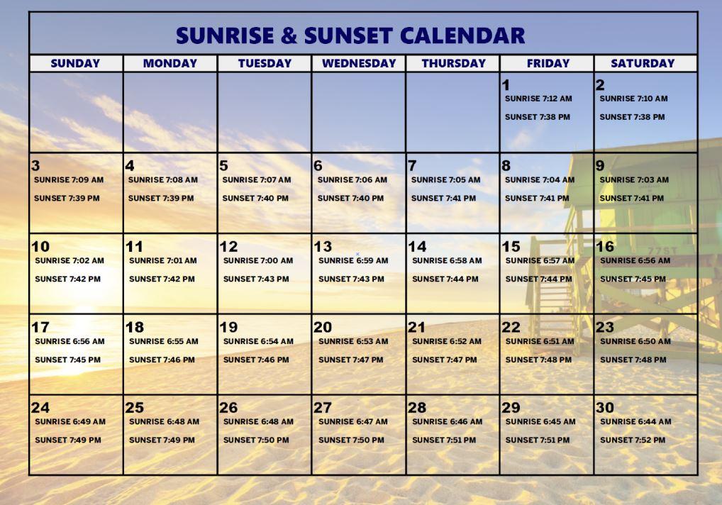 Sunrise And Sunset Calendar – Calendar Template 2021 For Printable Sunrise/Sunset Tables For 2021