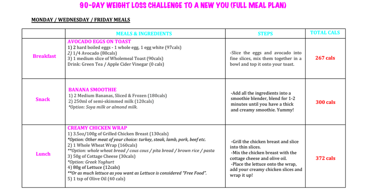 Supreme 90 Day Workout Meal Plan Pdf   Eoua Blog Throughout Supreme 90 Day Schedule