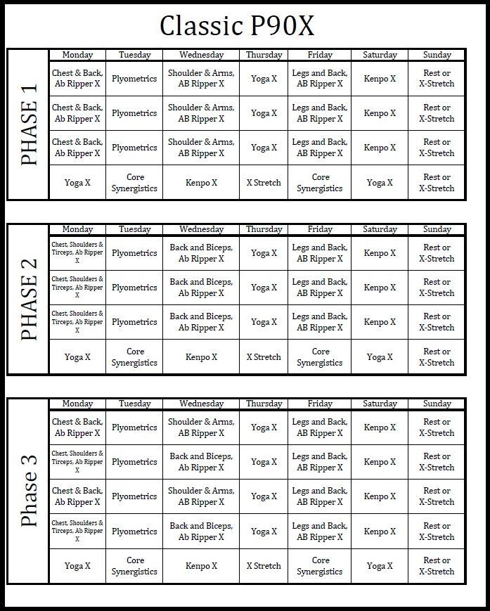 Supreme 90 Day Workout Schedule Pdf   Eoua Blog Regarding Supreme 90 Day Schedule