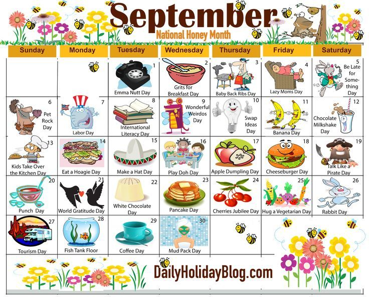 The New Free September Holiday Calendar Is Available To Print!   Holiday Calendar, National Day Throughout Free National Day Calendar