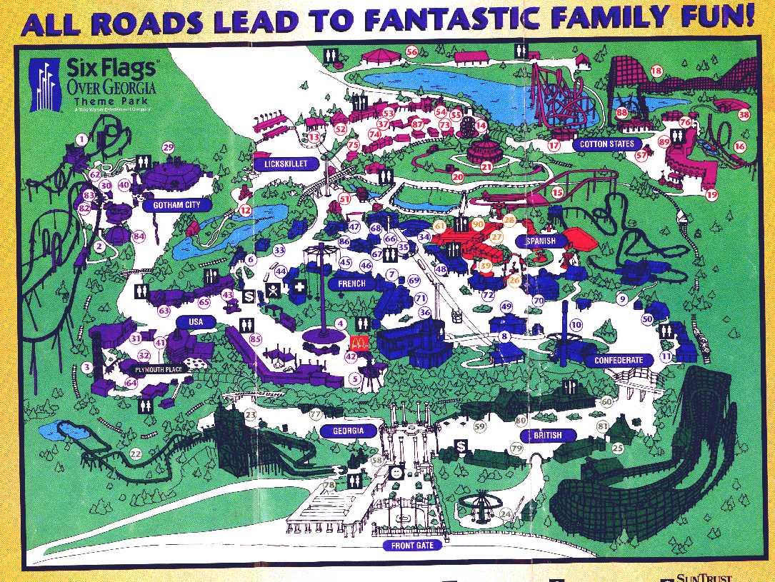 Theme Park Brochures Six Flags Over Georgia - Theme Park Brochures For Six Flag Over Ga Calendars
