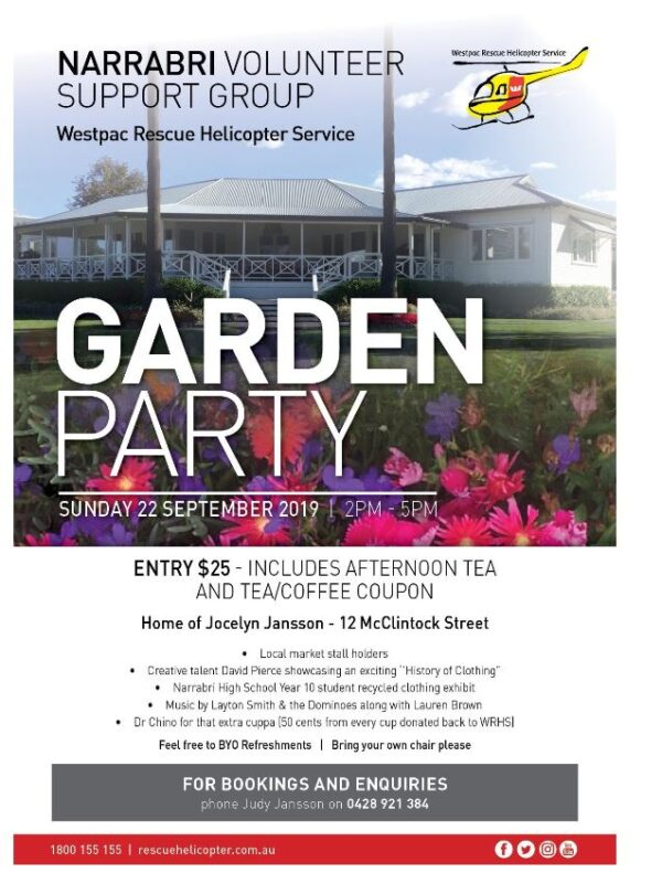 Westpac Helicopter Garden Party. – Visit Narrabri Intended For 454 Retail Calendar 2021