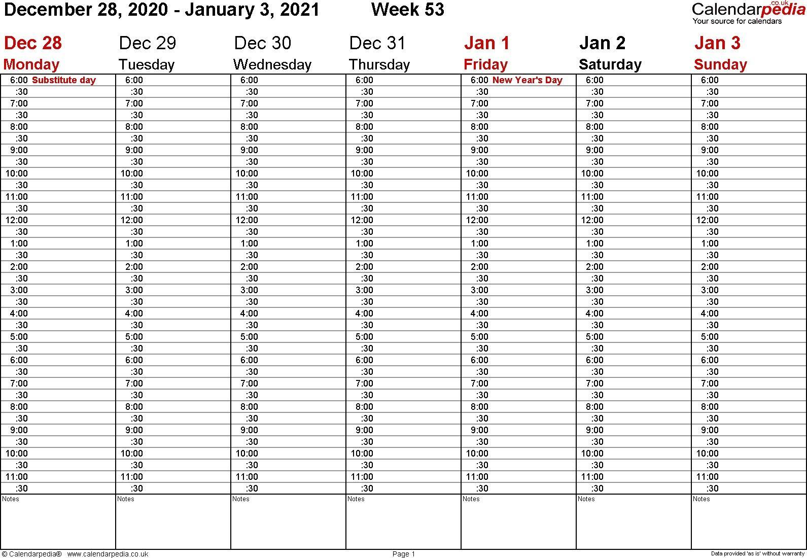 20+ 2021 Weekly Calendar - Free Download Printable Intended For 2022 Month Calendar 52 Week Challenge