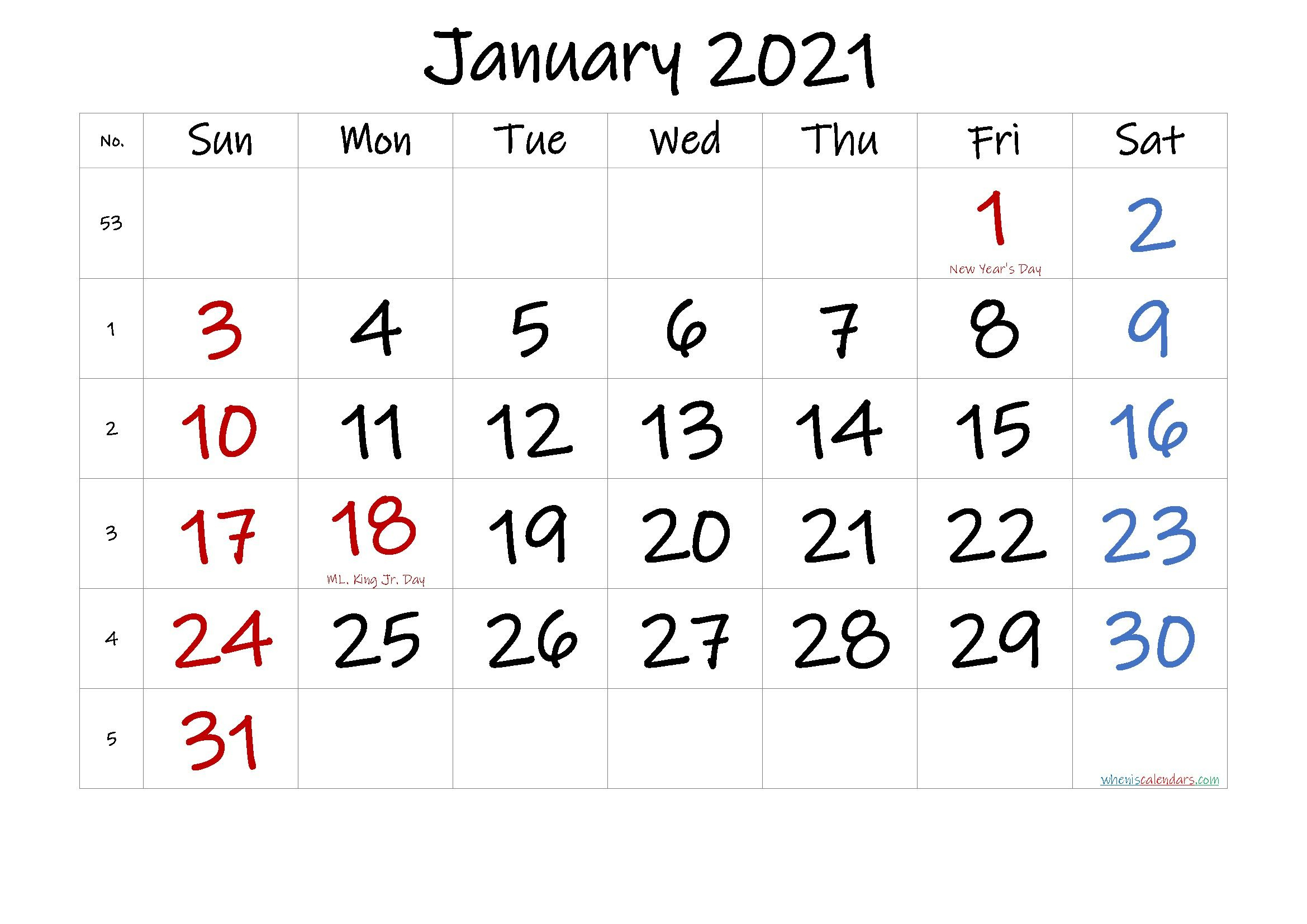 20+ Calendar For January 2021 – Free Download Printable Intended For Wiki January 2022 Calendar