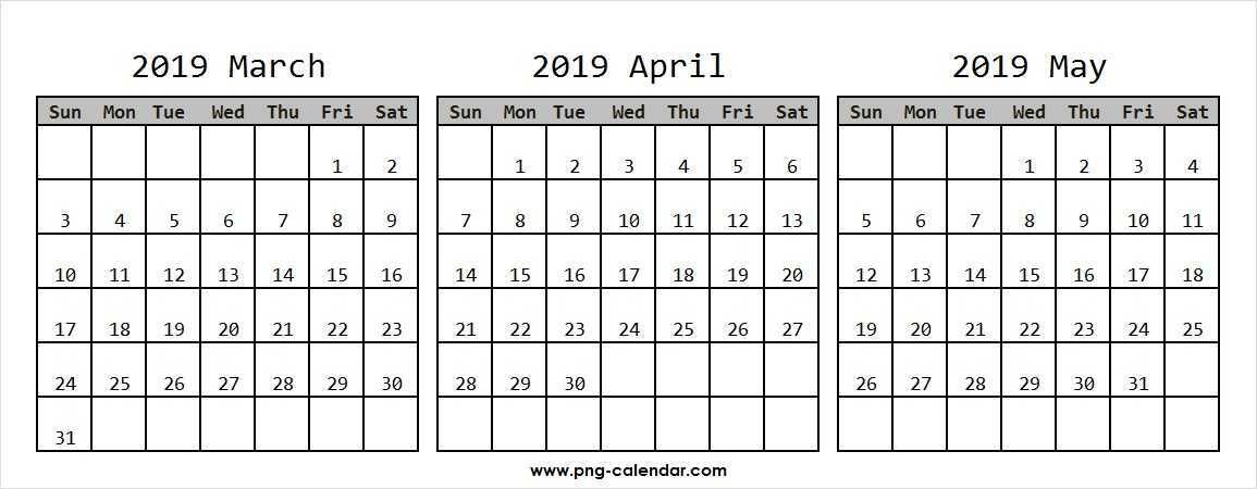 2019 Calendar March April And May Online | January Within January February March April May Calendar
