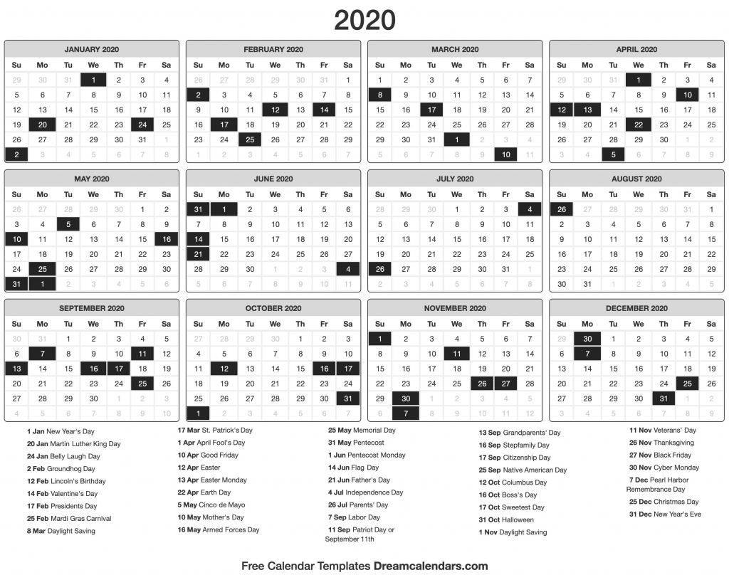 2020 Date And Time Calendar - Calendar Template 2021 With Nc Court Calendar Query