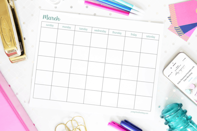 2020 March Calendar | Pretty (And Free!) March Printable For Calendar With March Filled In