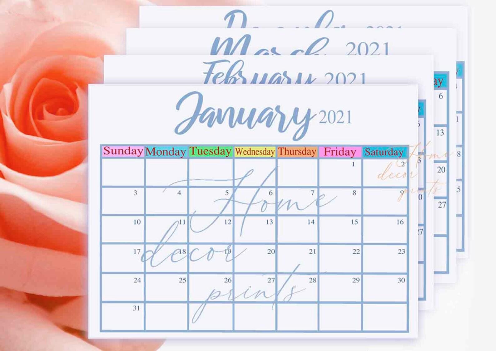 2021 Calendar 12 Months Calendar Printable March April May With Regard To 2021 Calendar March April May