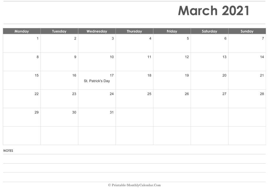2021 Editable Calendar February March April May | Free Inside Printable Calendar March April May 2021