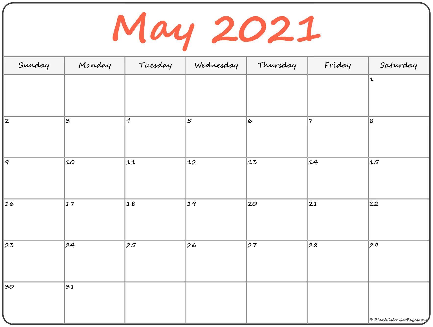 2021 Editable Calendar February March April May | Free With Regard To Printable Calendar March April May 2021