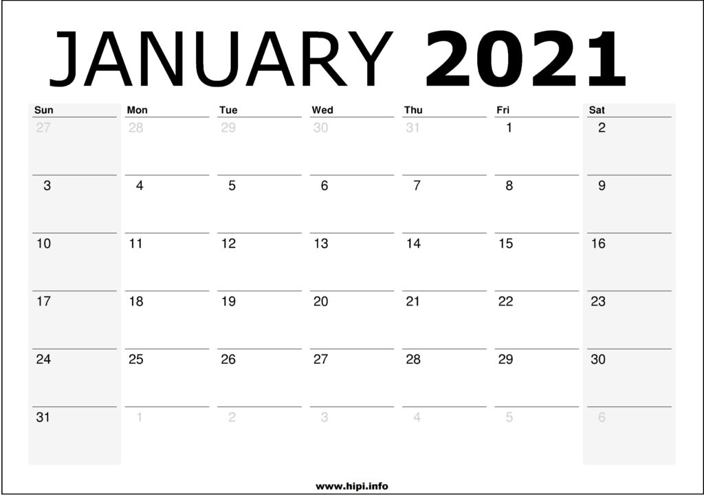2021 Print Free Calendars Without Downloading   Calendar In View January 2021 Calendar