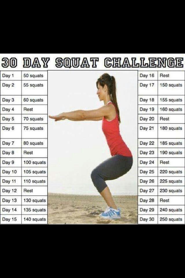 30 Day Challenge | 30 Day Squat Challenge, Squat Challenge pertaining to 30 Day Squat Challenge For Men And Women