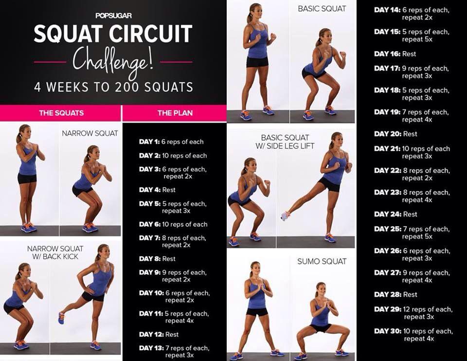 30 Day Squat Challenge | 30 Day Squat Challenge, Squat Inside 30 Day Squat Challenge For Men And Women
